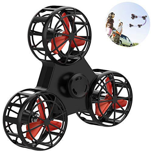 VanSmaGo Flying Fidget Spinner ,Flying Toys with High Speed Spins, Hands Operated Drone Focus Anxiety Stress Relief ,with 6 LED Pattern, USB Rechargeable, Best Gift for Kid Boys Girls