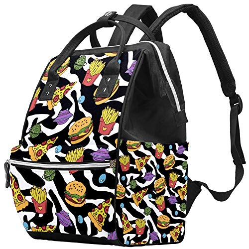 Material Object Travel Rucksack Casual Daypack Maternity Nappy Bag Organizer Nursing Bottle Bag