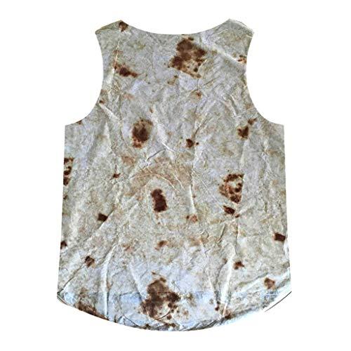 Julhold Zomer Peuter Baby Meisjes Jongens Mode Casual Mouwloos Burrito Print Katoen Losse Tops Vest Kleding 7-12 Jaar