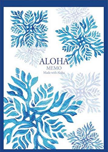 ハワイアン雑貨 マウナロア ハワイアン メモ帳 メモ用紙 ハワイ雑貨 文具 ギフト (キルト-ブルー)