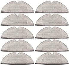 Omnfaes 10 pcs Mop Pads Replacement for Mi Robot Roborock S55 S52 S51 S50 Cleaning Pads Duster Washable Steam Pocket Mops ...