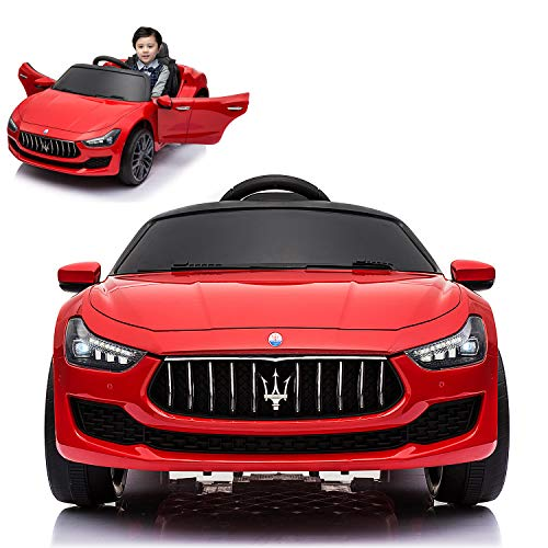 Maserati Ghibli Electric Ride On Car with Remote Control for Kids | 12V Power Battery Official...