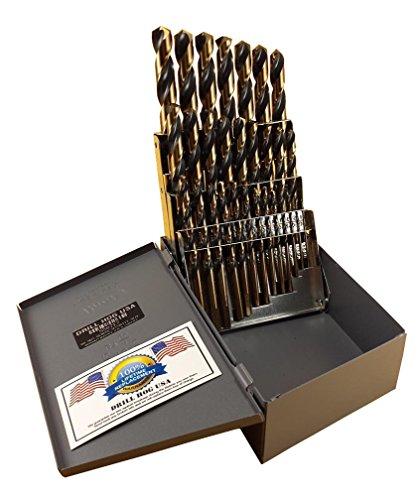 Drill Hog USA 29 Pc Drill Bit Set 1/16'-1/2' Molybdenum M7 HSS USA Made