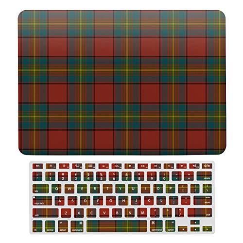 Funda rígida para MacBook New Pro 13 Touch A1706, A1989, A2159, carcasa rígida y teclado para Apple Mac New Pro 13 Touch, Scottish Clan Oliver Red Tartan Plaid Laptop Set