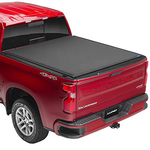 Lund Genesis Elite Roll Up, Soft Roll Up Truck Bed Tonneau Cover | 96893 | Fits 2014 - 2018 GMC Sierra & Chevrolet Silverado 6' 7' Bed (78.8')