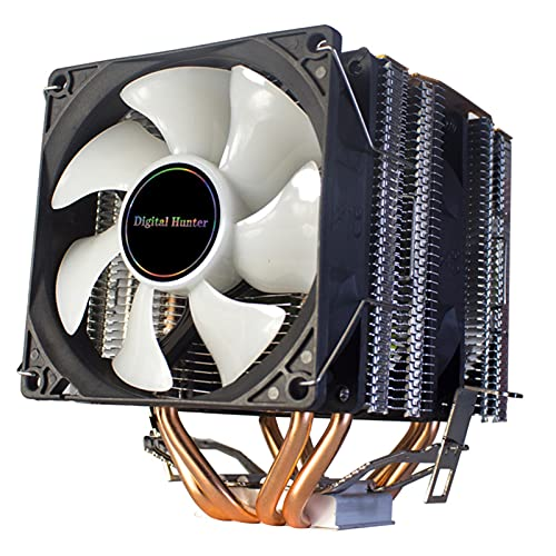 Torres gemelas CPU Cooler 90mm 4pin Ventilador de refrigeración para Intel LGA1150 1151 1155 1156 775 AMD AM3 AM4 Cooler RGB CPU Cooler para PC
