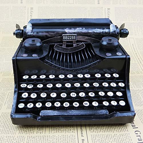 DAMAI STORE Retro máquina de Escribir Viejo Modelo del Hierro decoración del hogar artesanales de Metal Creativa Adornos Presente de cumpleaños los 20 * 17 * 20cm