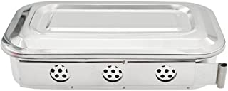 Towashine Stainless Steel Medical Sterilizer Box Instrument Tray Organizer with Lid