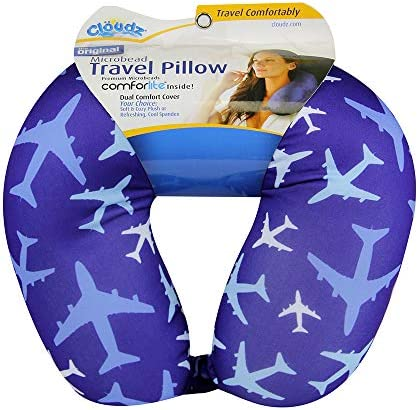 Cloudz Patterned Microbead Travel Neck Pillow Airplanes product image