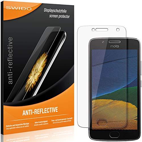 SWIDO Schutzfolie für Motorola Moto G5 Plus [2 Stück] Anti-Reflex MATT Entspiegelnd, Hoher Festigkeitgrad, Schutz vor Kratzer/Folie, Bildschirmschutz, Bildschirmschutzfolie, Panzerglas-Folie