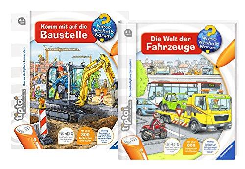 Ravensburger tiptoi Set - Die Welt der Fahrzeuge und Komm mit auf die Baustelle - 9120063892099