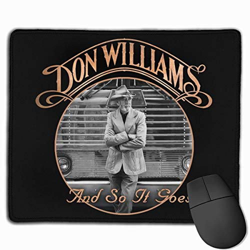 AEMAPE Don Williams and So It Goes Alfombrilla de ratón Antideslizante Alfombrilla de ratón de Escritorio para Juegos de Ordenador portátil para Oficina en casa