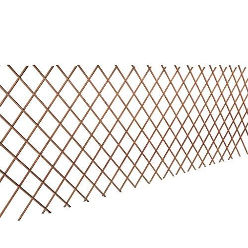5 Piezas Celosia Extensible Mimbre para Jardin | Valla de Enrejado del Sauce expansión jardín Flor Planta Escalada | marrón 90 x 180 cm