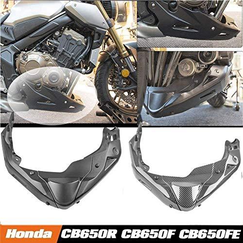Lorababer Motorrad schwarz Motorschutz Schutzabdeckung unter der Motorhaube abgesenkt niedrige Abdeckungen Verkleidung Bauchwannenabdeckung für Honda CB650R 2019-2021,CB650F 2014-2020(Kohlefaser-Look)
