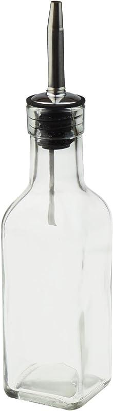Argon Tableware Square Olive Oil Vinegar Bottle With Tapor Pourer Gift Boxed 170ml 6oz