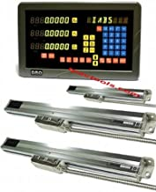 3 Axis DRO Digital Readout Lathe Pacakage Linear Glass Scale 0.0002