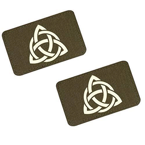 m-tac Morale Patches Vikings Thor Sign Tactical Patch Lazer Cut (Ranger Green/GITD 2 pcs.)