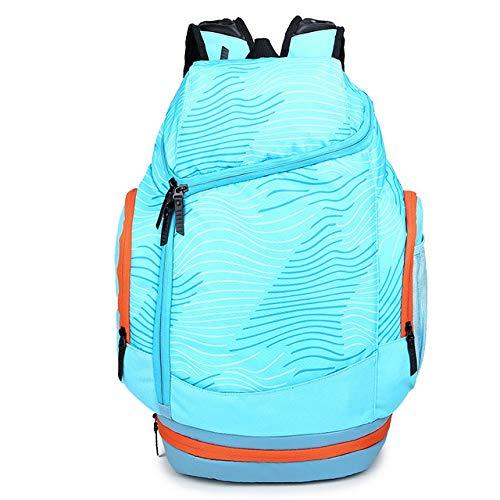 UKKO Sportrucksack Schulter-Sport Sporttaschen Basketball-Rucksack-Schule-Beutel Für Teenager-Jungen Fußball-Pack-Laptop-Tasche Fußball-Net Fitness-Tasche,Blau