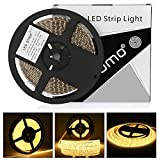 Tira led 12V 5m LEDMO,luces led 3000K SMD2835 tira led blanco cálido 600leds tiras led exterior IP65 impermeable strip led...
