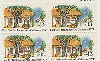 1977 First Civil Settlement 13 Cent Stamp, Scott # 1725, Set of 4