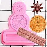 FGHHT Molde de Silicona de limón y Canela de anís Estrellado, moldes de Fondant para Hornear Chocolate, Herramientas de decoración de Pasteles, moldes de Arcilla de Caramelo