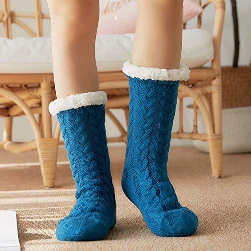 GoolRC Meias de inverno femininas de pelúcia grossas quentes macias meia panturrilha meias de chão para casa meias