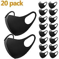 20 máscaras de protección bucal para el polvo, máscara facial para correr, ciclismo, esquí, actividades al aire libre (negro 20).