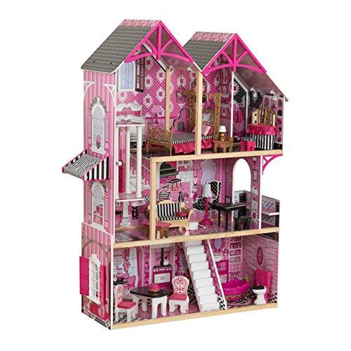 KidKraft 65944 Casa de muñecas de madera Bella para muñ