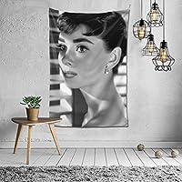 タペストリー オードリーヘップバーンAudrey Hepburn 映画のポスター インテリア 壁掛け 壁飾り多機能 装飾布 模様替え 部屋 窓カーテン 新居祝い 150x100cm