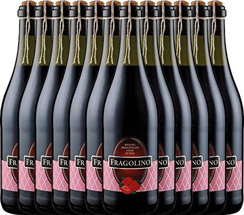 VINELLO 12er Vorteilspaket Perlwein - Fragolino Rosso - Masseria la Volpe | erdbeeriger Perlwein | fruchtig-frische Fragolino aus Abruzzen | 12 x 0,75 Liter