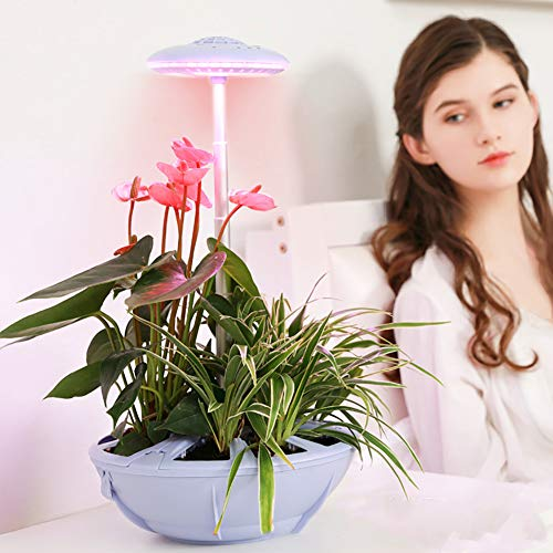 LED Plant Grow Light, luie plantlamp, intelligente groeilamp, 17W Led Grow Light Bulb Full Spectrum, voor kamerplanten Indoor bloemen- en groentezaailingen