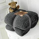 Manta de forro polar de lujo súper suave con diseño de oso de peluche