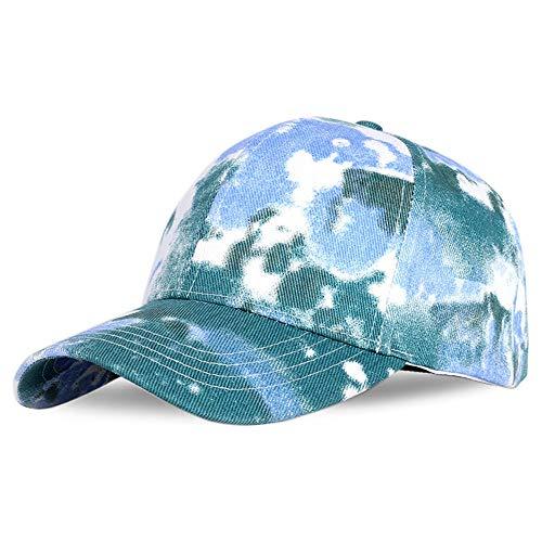 Mütze Tie-Dye Baseball Cap Unisex Hut Sport Schatten Baseball Cap Lovers Bunter Hut Verstellbare Kappe Für Männer Frauen Outdoor-Blue_Adjustable