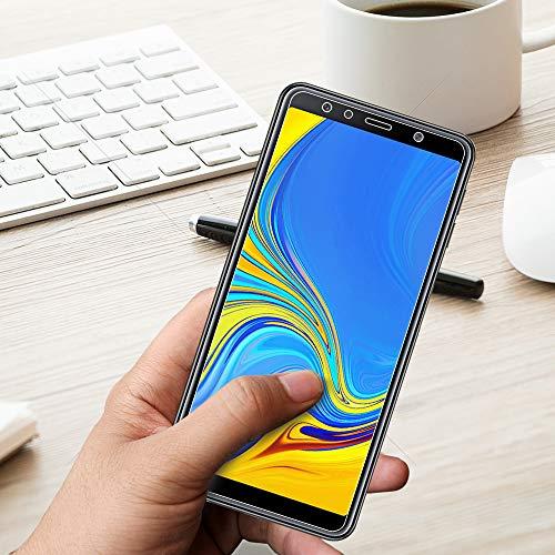 ANEWSIR Panzerglas Schutzfolie Kompatibel mit Samsung Galaxy A7 2018 Panzerglasfolie, Anti-Bläschen, Displayschutzfolie Schutzfolie Folie Kompatibel mit Samsung A7 2018.
