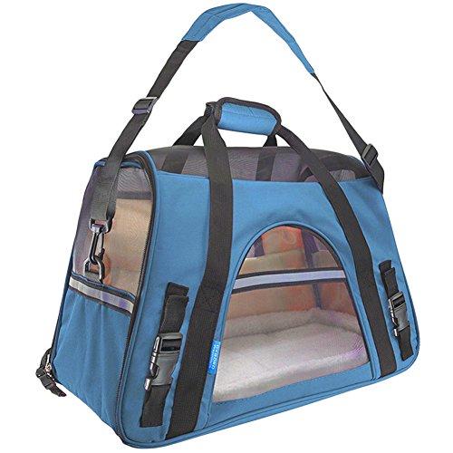 Hundetragetasche Katzentragetasche Haustiertasche Tragetasche Transporttasche Hunde Katzen Tragbar Transportbox Himmelblau L