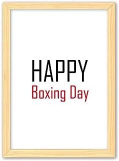 CaoGSH Cadre photo décoratif en bois pour célébrer le jour de la boxe A4