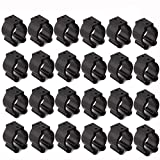 Very Big Size 24 PCS Billiards Snooker Cue Locating Clip Holder Regular Fishing Rod Storage Clips Black for Pool Cue Racks,Holding Hole Size 2.3cm/0.95', Or usesd for Fishing Rod Storage Rack