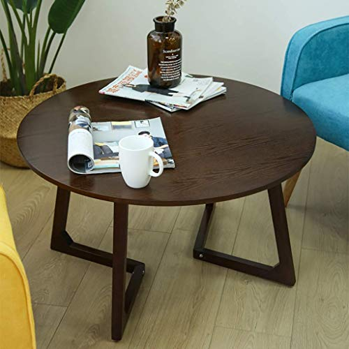 Soild Wood Side Table Accent Furniture Mid-Century Accent Table Entryway Sofa Table Living Room Coffee Table Decor Bedside Nightstand Modern End Table (Size : Brown round)