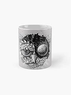 Owl Dayowl Night 11Oz Mug - Made From Ceramic - Best Gift For Family Friends.