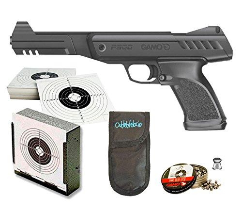 Outletdelocio. Pack Pistola Perdigón Gamo P-900 Gunset + Funda Portabalines. 57201/23054