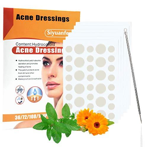 216PCS Patch per L'acne, lnvisible Hydrocolloid Absorbing Pimple Patches, Trattamento spot Impermeabile e Invisibile, Assorbe il Segreto e Promuove La Guarigione Dell'acne, Spot Maculato