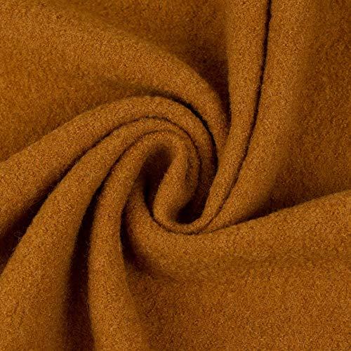 Walkloden Walkstoff 100% Schurwolle, 0,5 m, Stoffe, Trachtenstoff, Meterware (Ocker)