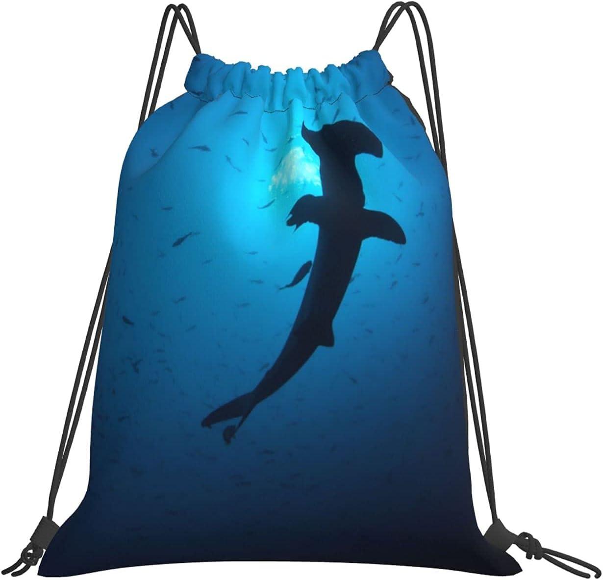 Hammerhead Very popular Sharks Ranking TOP19 Simple Drawstring Backpack Durable Gym Yog Bag