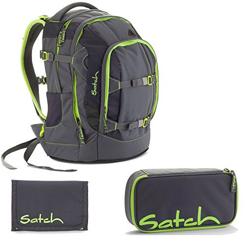Satch Pack by Ergobag Phantom 3er Set Schulrucksack + Schlamperbox + Geldbeutel