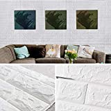 Brick Wallpaper-Masione 3D Wall Panels Peel and Stick Self-Adhesive Real Bricks Effect Wallpapers for Kids Room Bathroom Living Room TV Walls Sofa Background 58.13 sq.ft 10 Packs