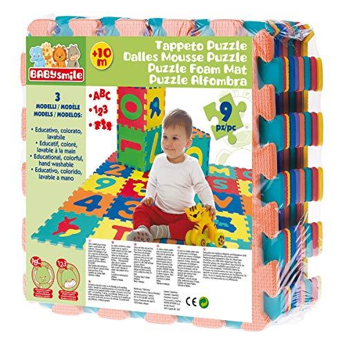 Baby Smile - Tappeto Puzzle Eva 9 Pezzi con Numeri - Tappeto Gioco Bambini con Numeri Educativo, Colorato e Lavabile - Tappeto Cameretta Bambini Morbido per Giocare e Imparare - Giochi per Bambini