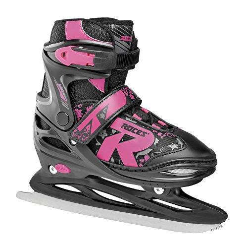 Roces Kinder Jokey Ice 2.0 Girl Verstellbarer Schlittschuh, Black-Fuchsia, 30-33