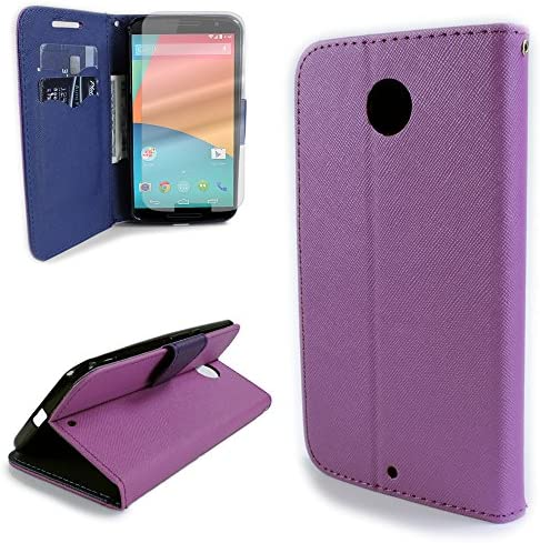Google Nexus 6 Case and Screen Protector CoverON Carryall Series Protective Wallet Pouch Flip product image