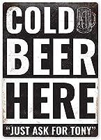 冷たいビールの壁錫サイン金属ポスターレトロプラーク警告サインヴィンテージ鉄絵画の装飾オフィスの寝室のリビングルームクラブのための面白い吊り工芸品