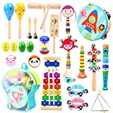Music Instruments for Kids 30 Pcs, Ohuhu Music Toys Kid Musical Instrument Set for Child with Tuned Xylophone,...